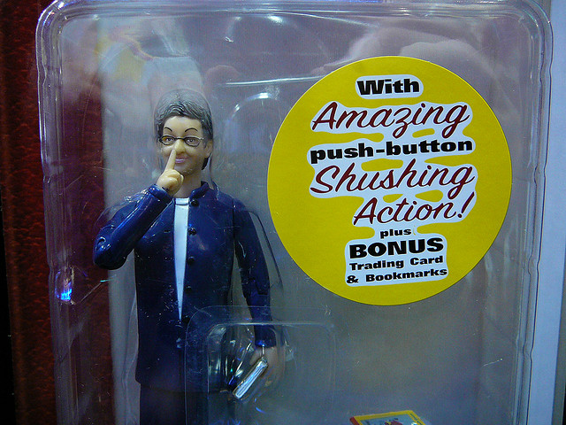 Librarian Action Figure CCBY PauL L Dineen via Flickr