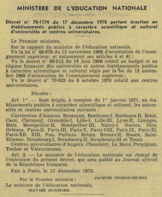 Journal Officiel de la République Française du 18 décembre 1970